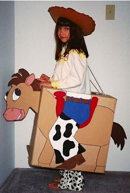 make a horse from a cardboard box costume toystory - Halloween Box Costumes