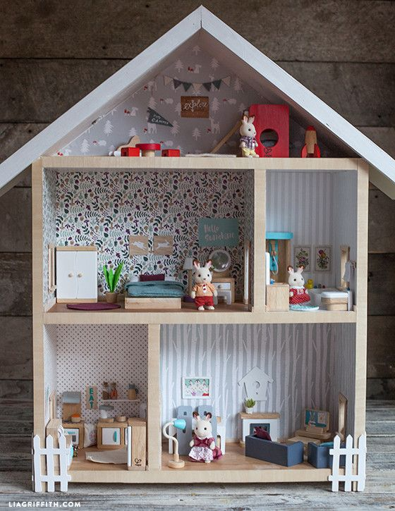 Give A Home Make Your Own Dollhouse Doll House Plans Diy