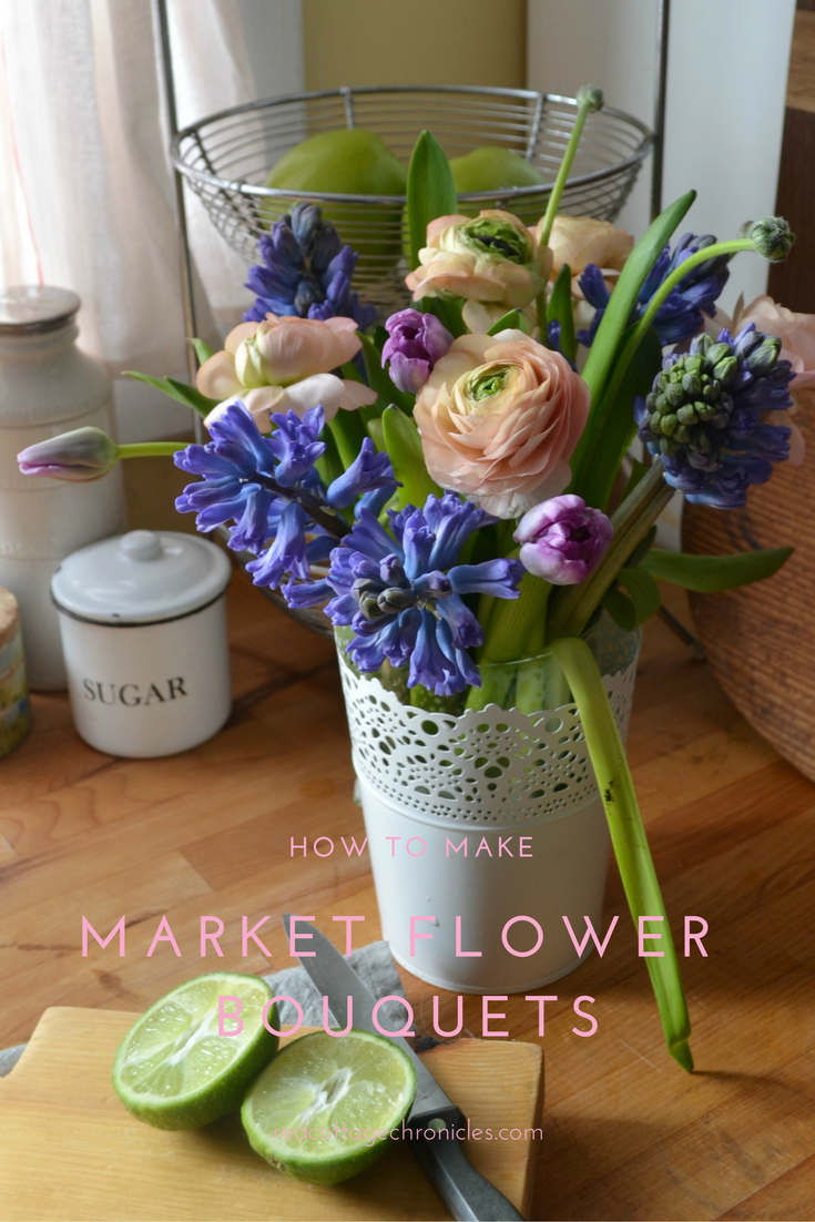 Fresh market flower bouquets are inexpensive and easy to arrange ...
