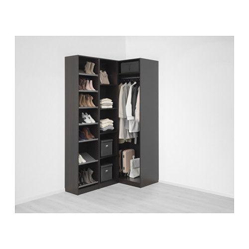 Ypperlig PAX Corner wardrobe, black-brown, Nexus Vikedal in 2019 EL-19
