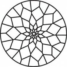 Mandala para Colorear  Vitrales  Pinterest
