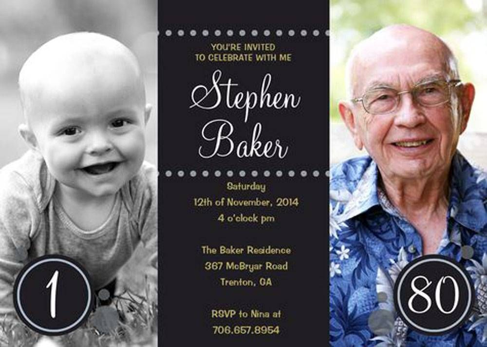 80th Birthday Party Invitations Templates Free Download | Birthday ...