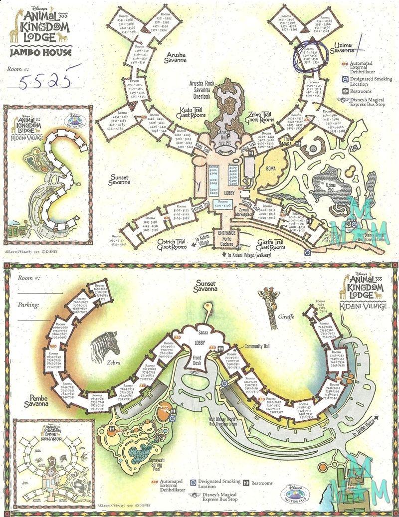 disney s animal kingdom lodge resort map ºoº disney s animal