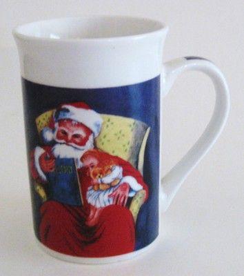 Royal Norfolk Holiday Christmas Santa Claus Coffee Mug Cup Ceramic 12 oz