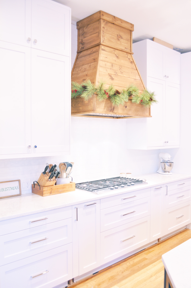 How I Built My Diy Farmhouse Vent Hood Cover Modern Farmhouse Kitchens Farmhouse Kitchen Remodel Kitchen Vent Hood