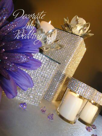 DECORATE MY WEDDING Crystal Rhinestone Wedding Decorations
