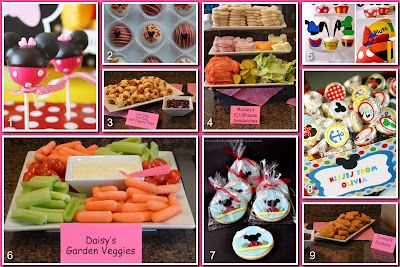 Mickey Mouse Clubhouse Party Board Food  http://www.disneydonnakay.com/2012/05/disney-party-boards-mickey-mouse.html