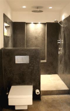 Tadelakt Farbe Anthrazit Badezimmerboden Badezimmer Boden Wandgestaltung