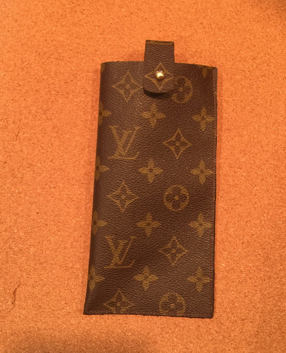 check out d8302 ba23a Sunglass or eyeglass case upcycled from authentic Louis Vuitton ...