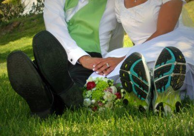 colby and i are definitely taking a picture like this with our running shoes!