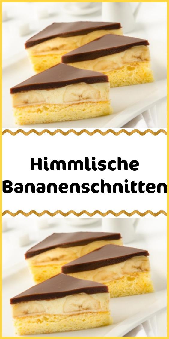 Himmlische Bananenschnitten #cupcakesrezepte
