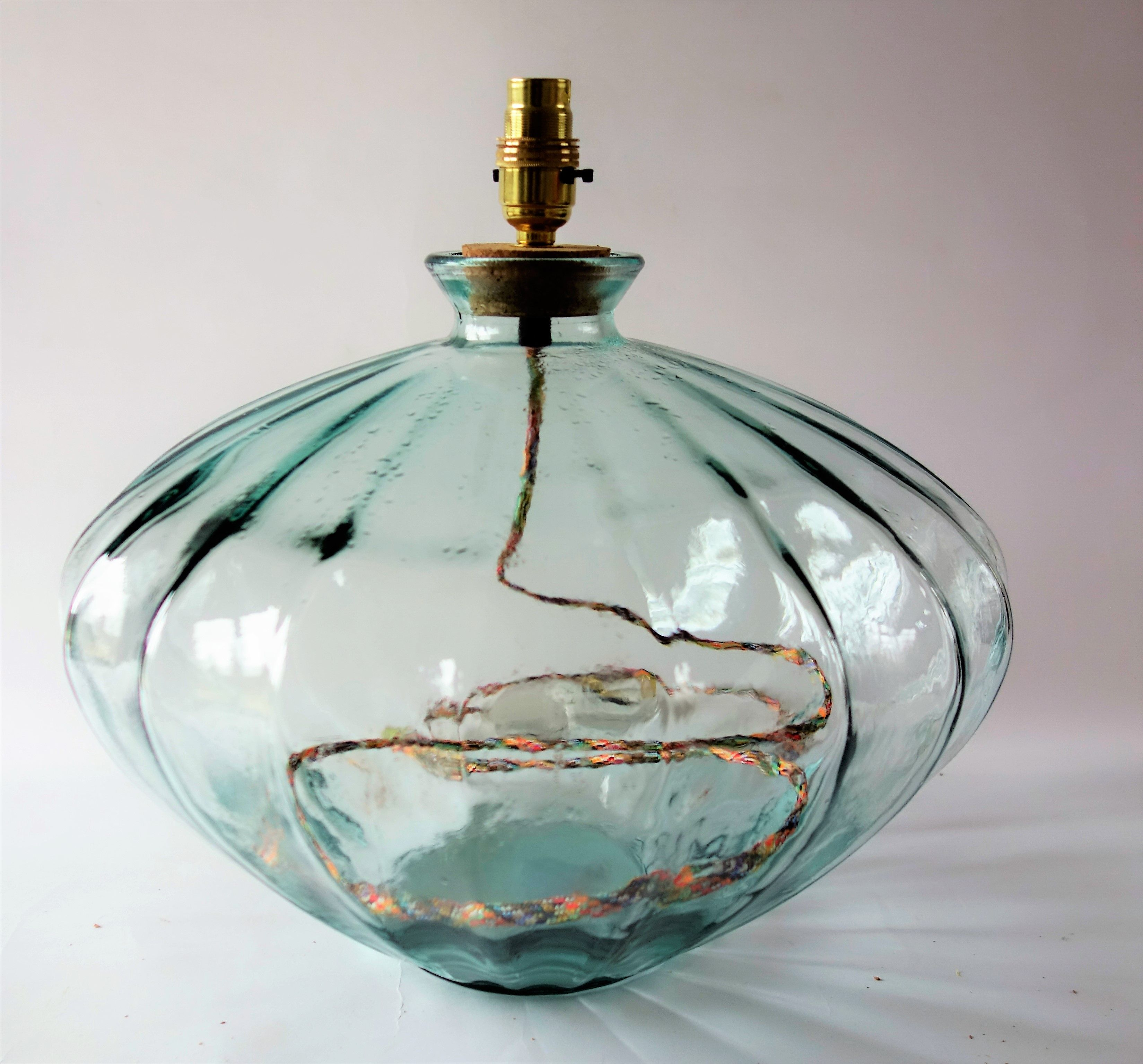 recycled glass lighting. New Ribbed Recycled Glass Lamp Made In Our Bristol Warehouse Lighting