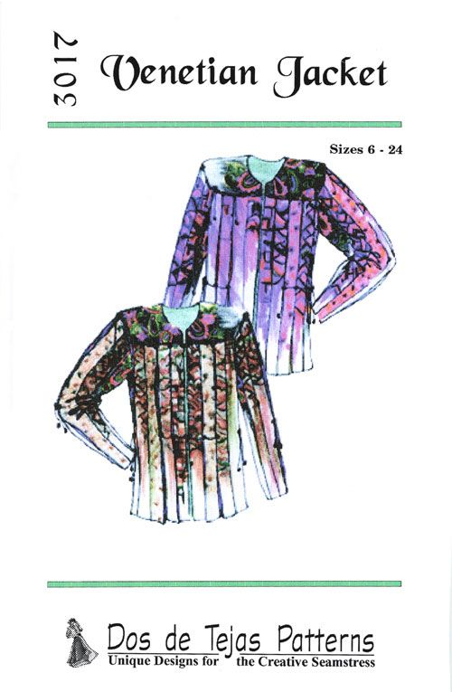 Patterns - Dos de Tejas #3017, Venetian Jacket. Pull the cord and ...