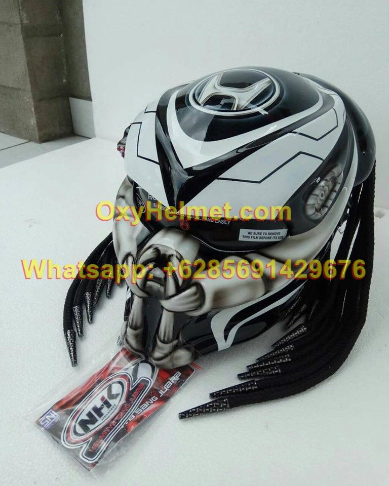 6285691429676 Predator Helmet Ninja Predator Bike Helmet Predator Helmet Open Mouth Predator Helmet Futuristic Helmet Helmet