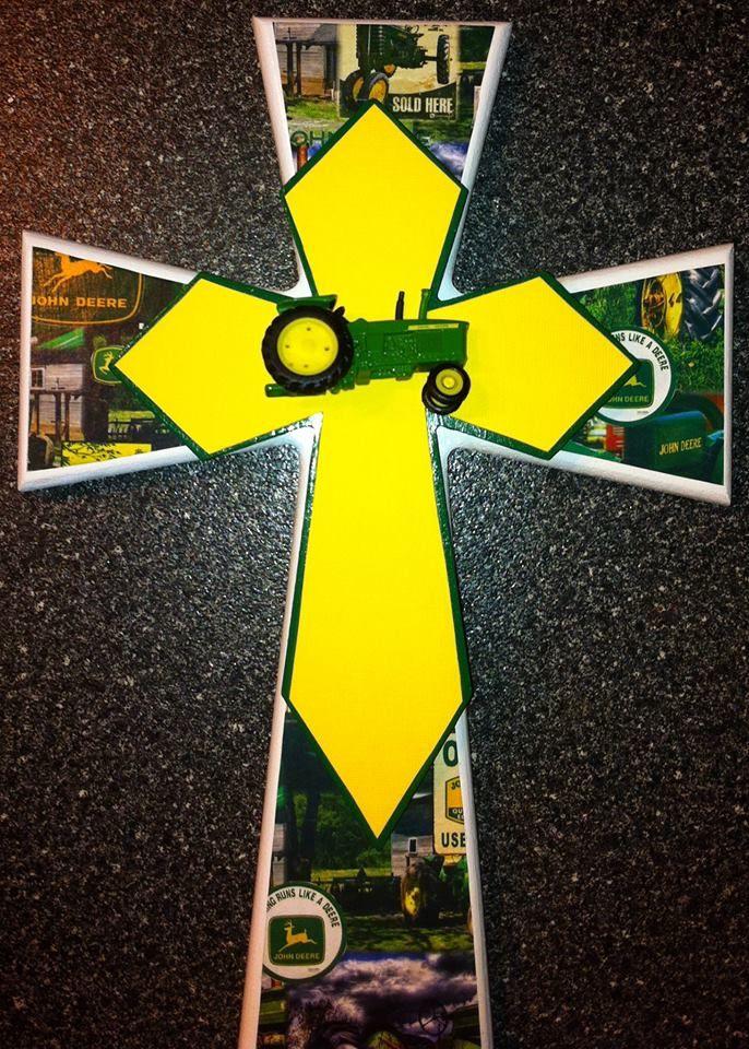 John Deere Cross by Alisha\'s Divine Crosses | Finished Crosses ...