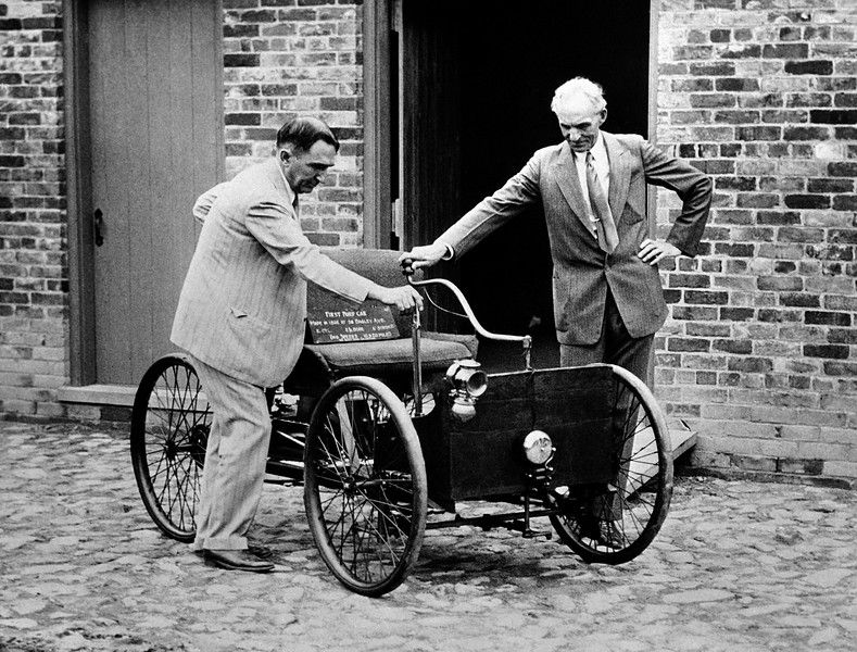 One Of The Most Prized Possessions Henry Ford American Motor Car Manufacturer Is First He Ever Built In A Brick Barn 1892