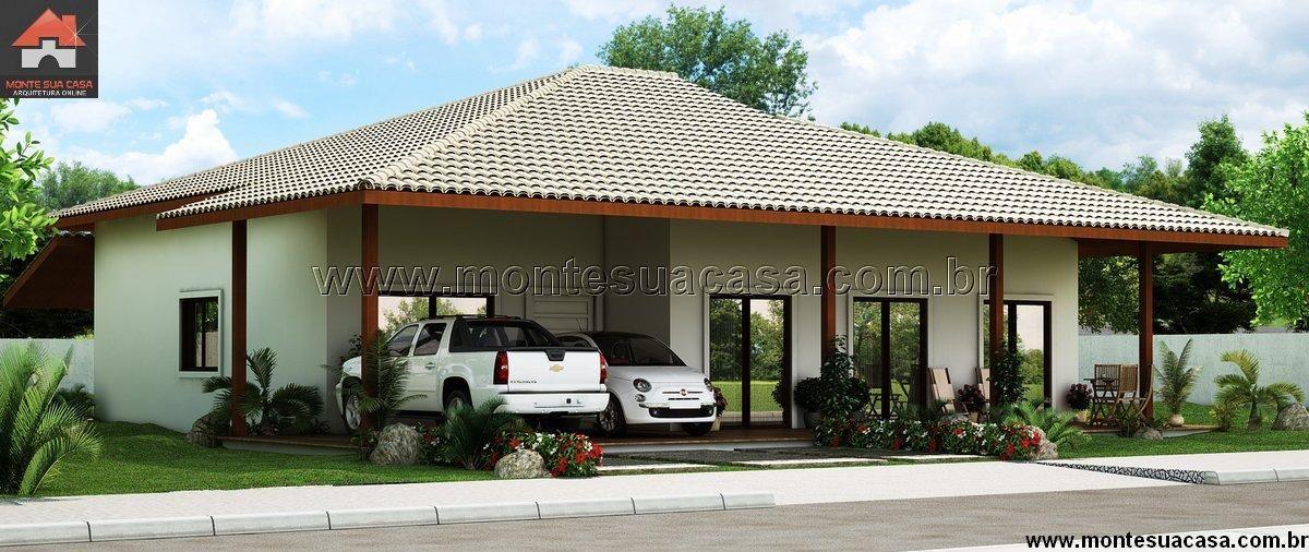 Planta de Casa - 5 Quartos - 111.02m² - Monte Sua Casa