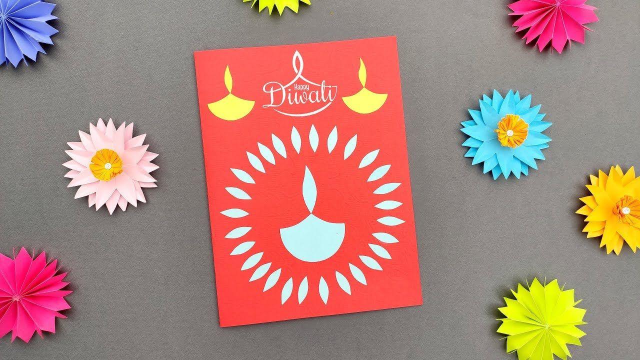diwali card  diwali greeting card  diwali card making