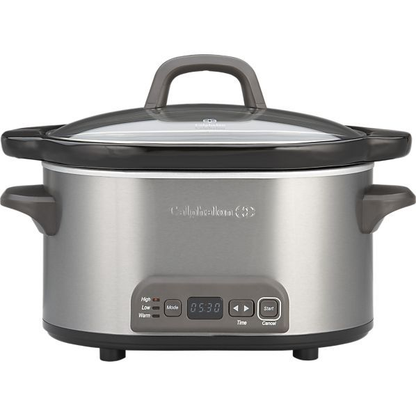 Crate Amp Barrel S Calphalon 174 4 Qt Slow Cooker Quot All The