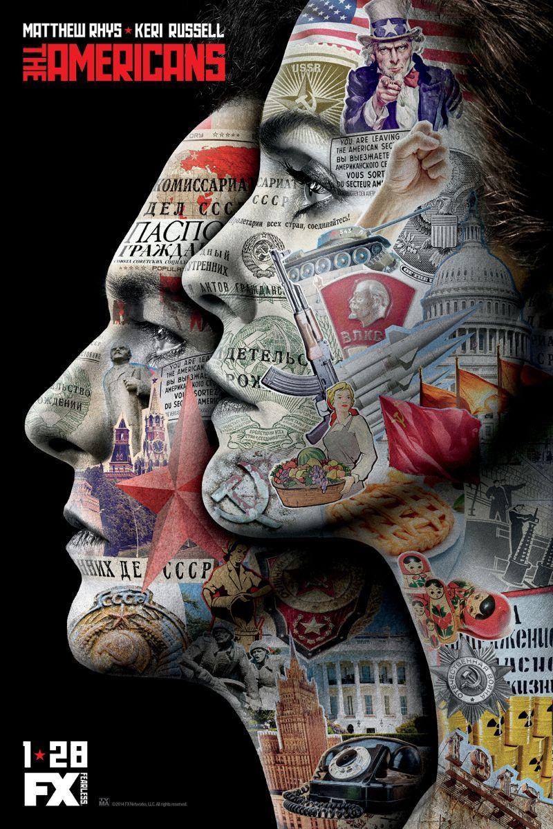 THE AMERICANS Season 3 Poster Key Art Keri Russell as Elizabeth Jennings, Matthew Rhys as Philip Jennings