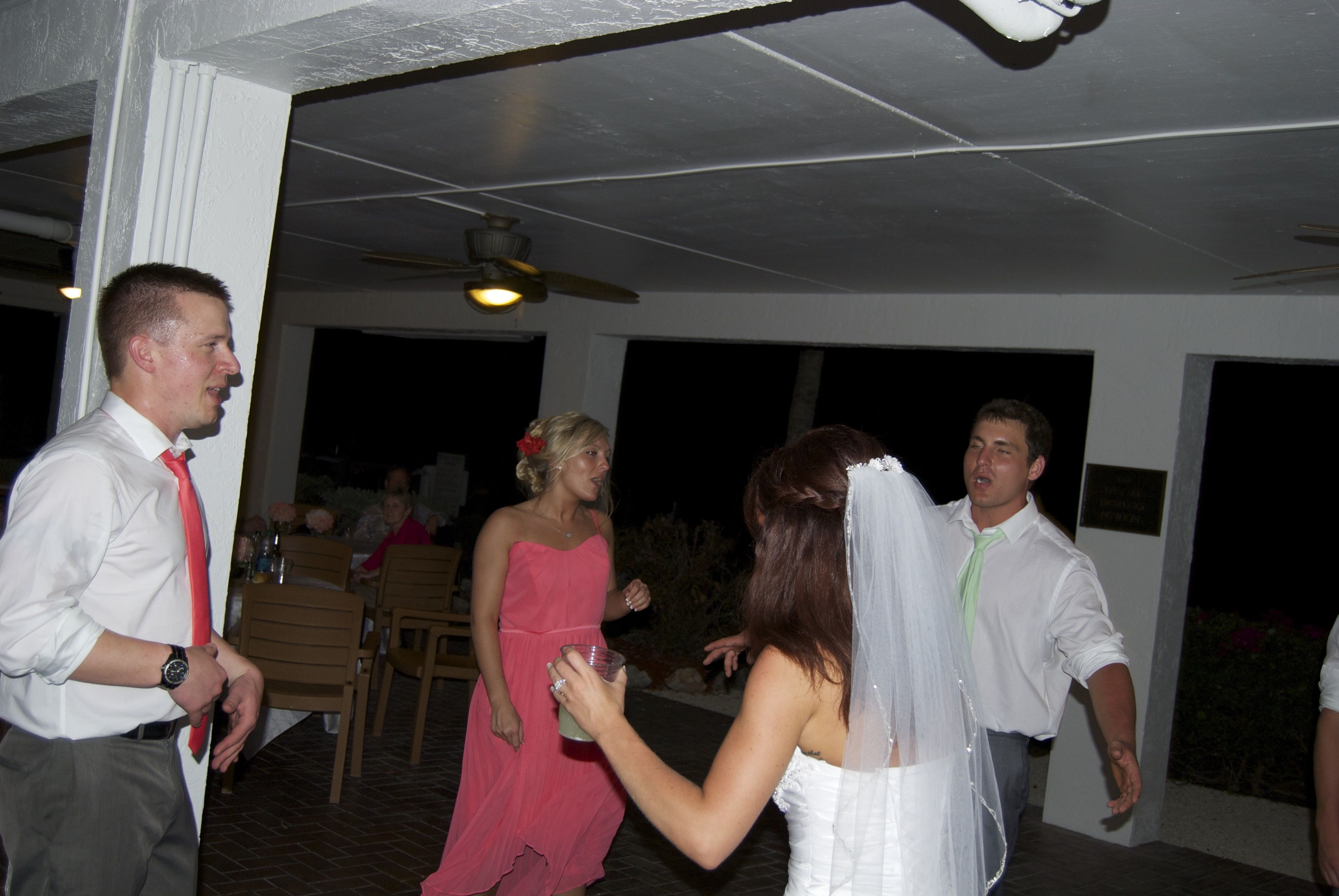 Bride And Groom Dance To A Fast Song Oceanpointesuitesweddingdj