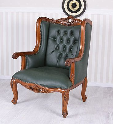 Ohrenbacken Sofa ohrensessel chesterfield ohrenbacken sessel mahagoni kaminsessel