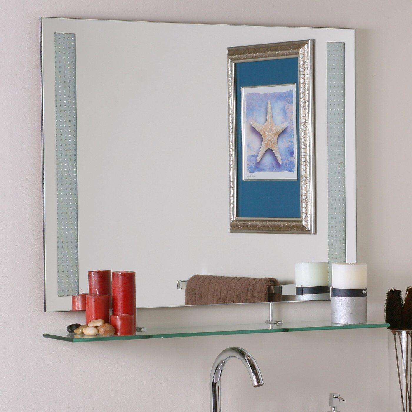 Shop Decor Wonderland SSM151 Frameless Amyrilla Mirror with shelf at ...