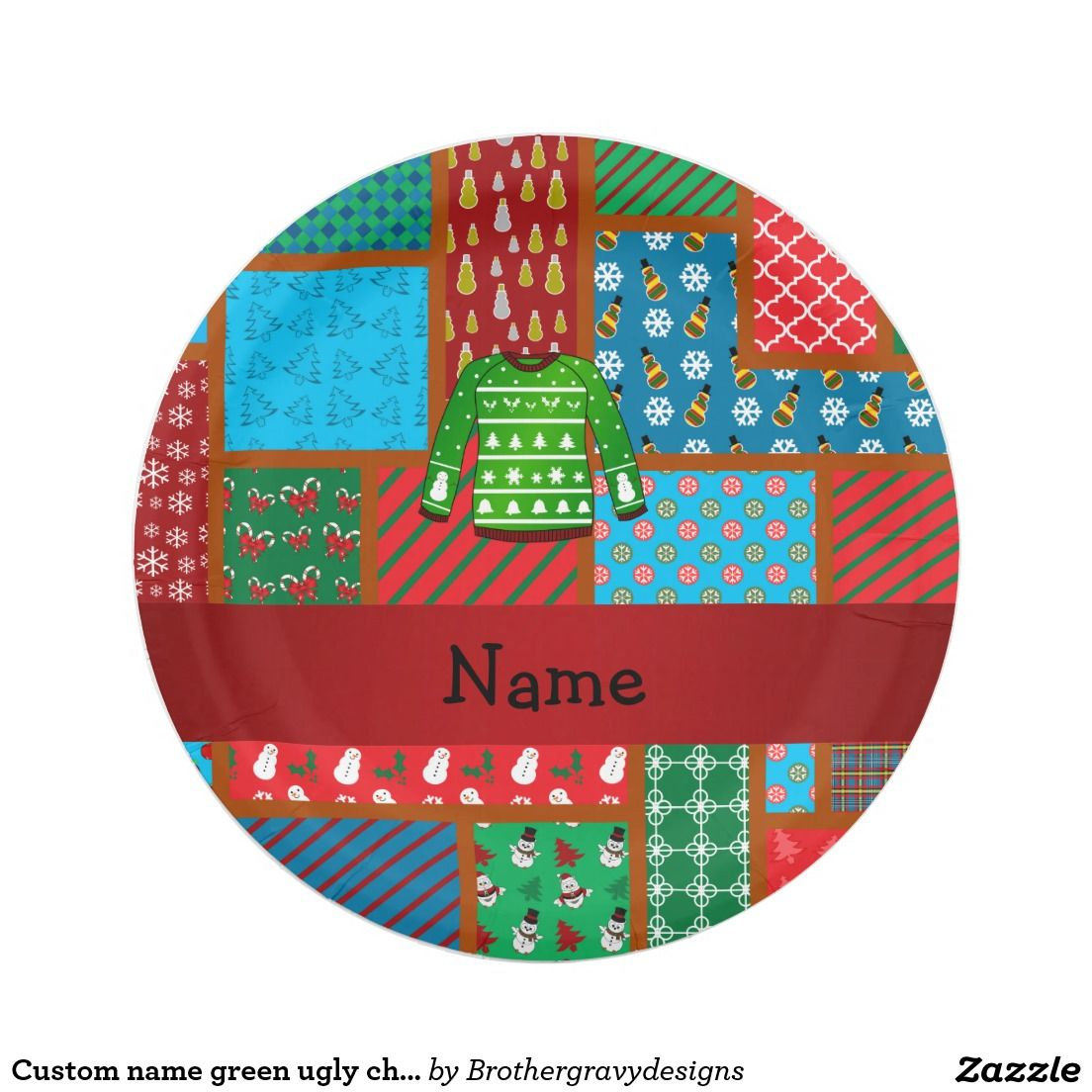 Create your own Paper Plate Christmas paper