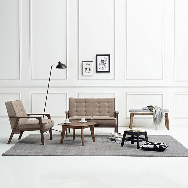 """""""We love the Nordic looks of our brand new Iniko furniture collection. So sleek and handsome. You're welcome in our home any day! #furniture #danishdesign #newarrivals #interior #onlineatzanui"""" Photo taken by @zanui on Instagram, pinned via the InstaPin iOS App! http://www.instapinapp.com (07/06/2015)"""