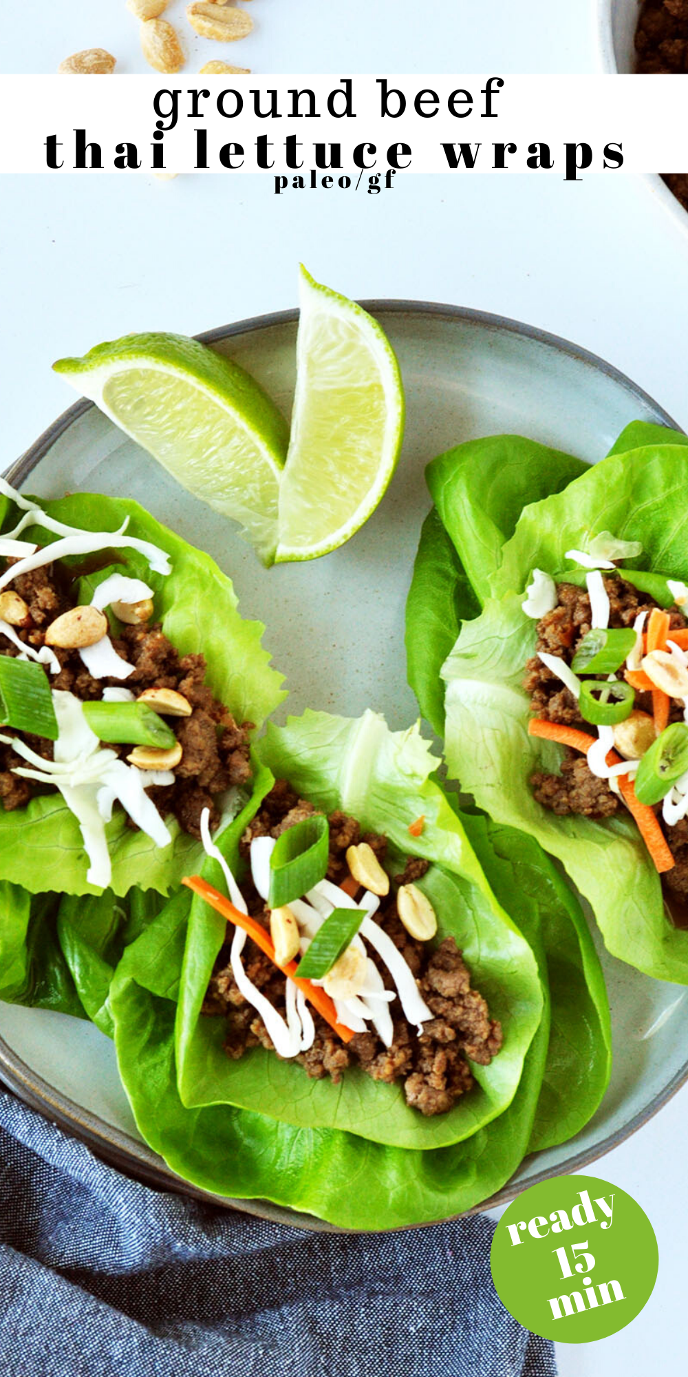 Ground Beef Thai Lettuce Wraps Sweet Rustic Bakes Recipe In 2020 Ground Beef Fast Family Dinners Lettuce Wraps