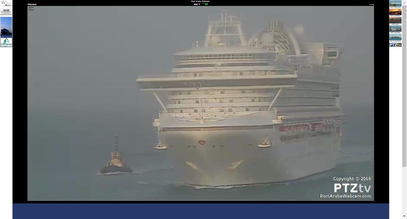 Port Aruba Webcam An Aruba Port And Cruise Ship Web Cam In - Cruise ship web cameras