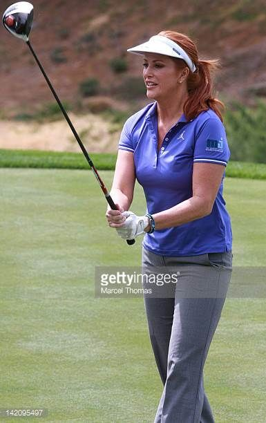eaa5d6db709 Angie Everhart attends the IIth Annual Michael Jordan Celebrity  Invitational Golf Tournament at Shadow Creek Golf Course on March 29 2012  in Las.