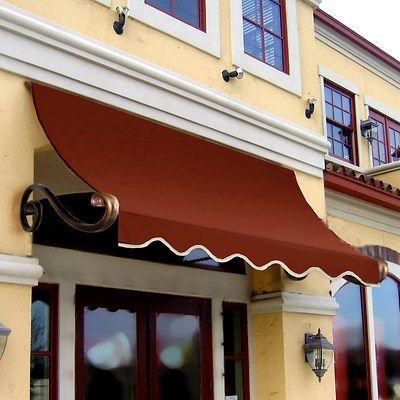 The Awntech Beauty Mark Charleston Architectural Scroll Arms Awning Is Designed For Use Over A