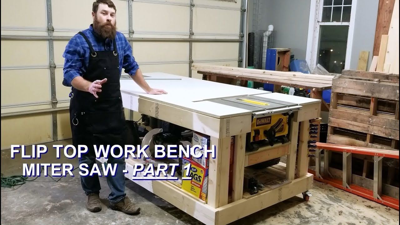 Part 1 Miter Saw Flip Top For Ultimate Mobile Workbench Table Saw Diy Table Saw Best Circular Saw