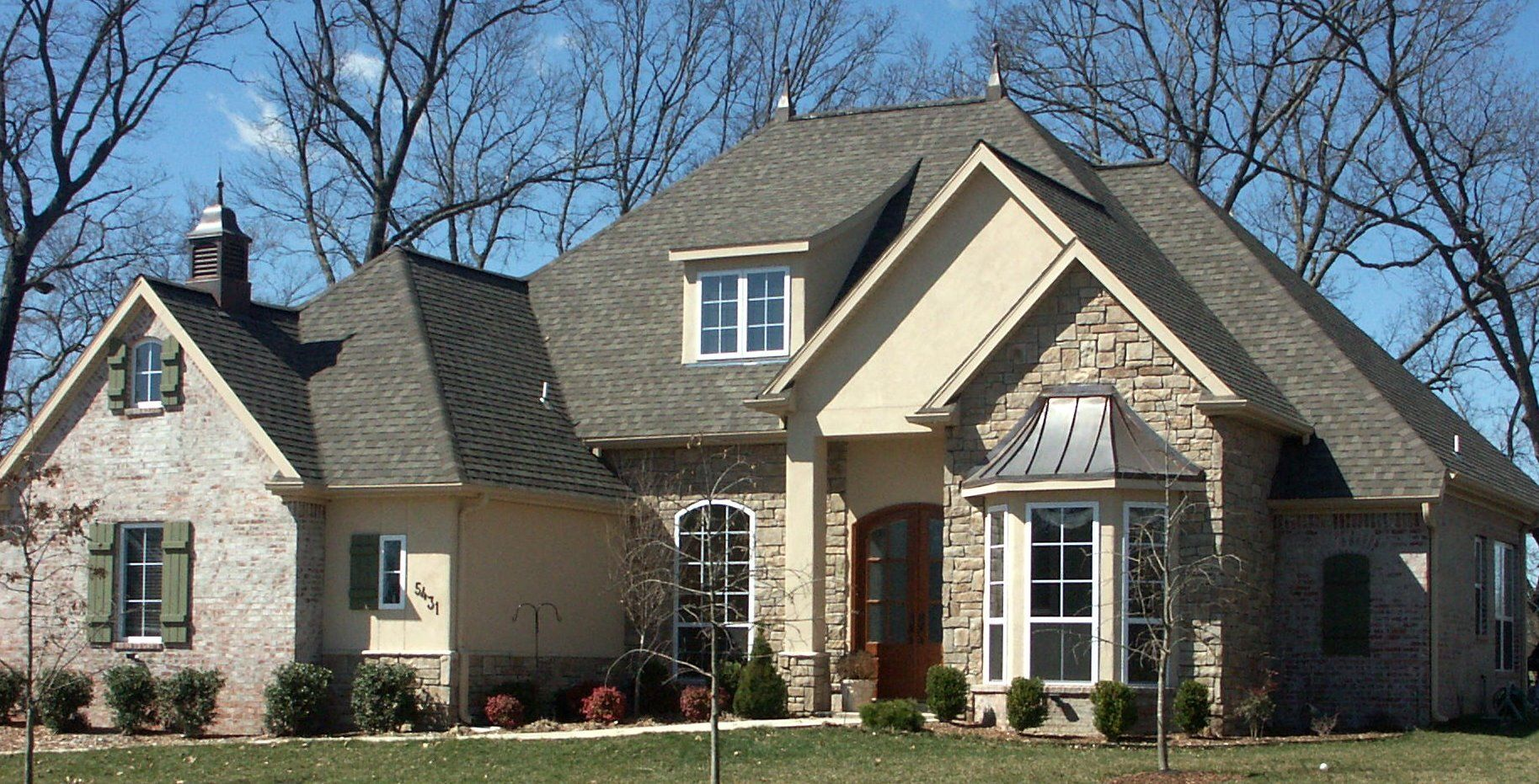 Brick and stone combinations double hung and specialty - Exterior brick and siding combinations ...
