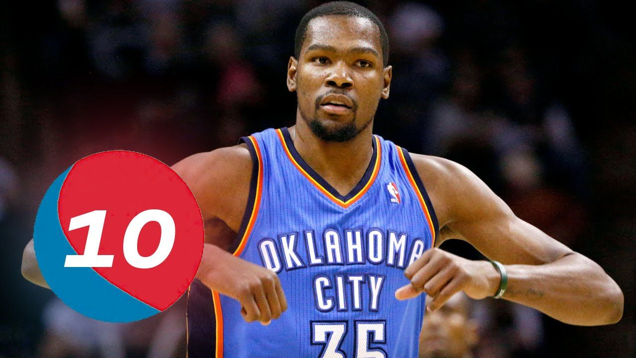 Kevin Durant Top 10 Plays of Career Kevin durant, Nba