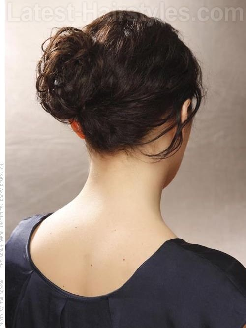 Simple Braided Hairstyles For Prom : Goddess bun grecian style braided updo for prom back view