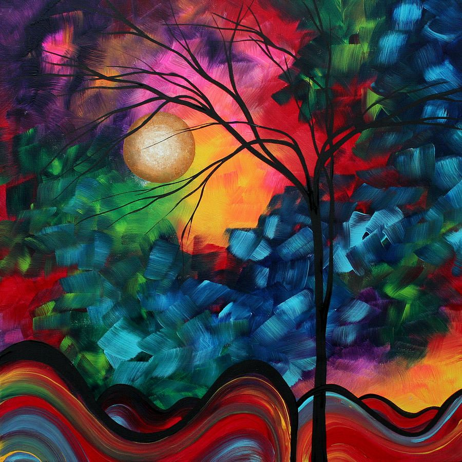 Abstract Landscape Bold Colorful Painting By Megan Duncanson Abstract Art Painting Abstract Painting Modern Art Paintings Abstract