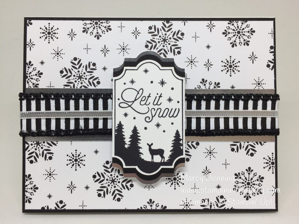 Stampin' Up! Merry Little Christmas Suite, Merry Little Labels stamp set, Everyday Label Punch, Merry Little Christmas DSP. Stampin' Up! www.stampinwithmarcy.com
