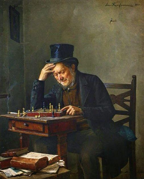The chessplayer, Isidor Kaufmann.  Photo by Jean-Pierre Gardelle, google.com/+JeanPierreGardelle.