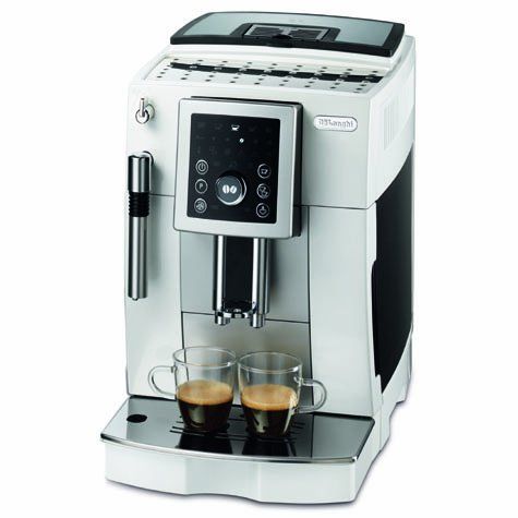 Delonghi Super Automatic Coffee Machine, Silver (Renewed