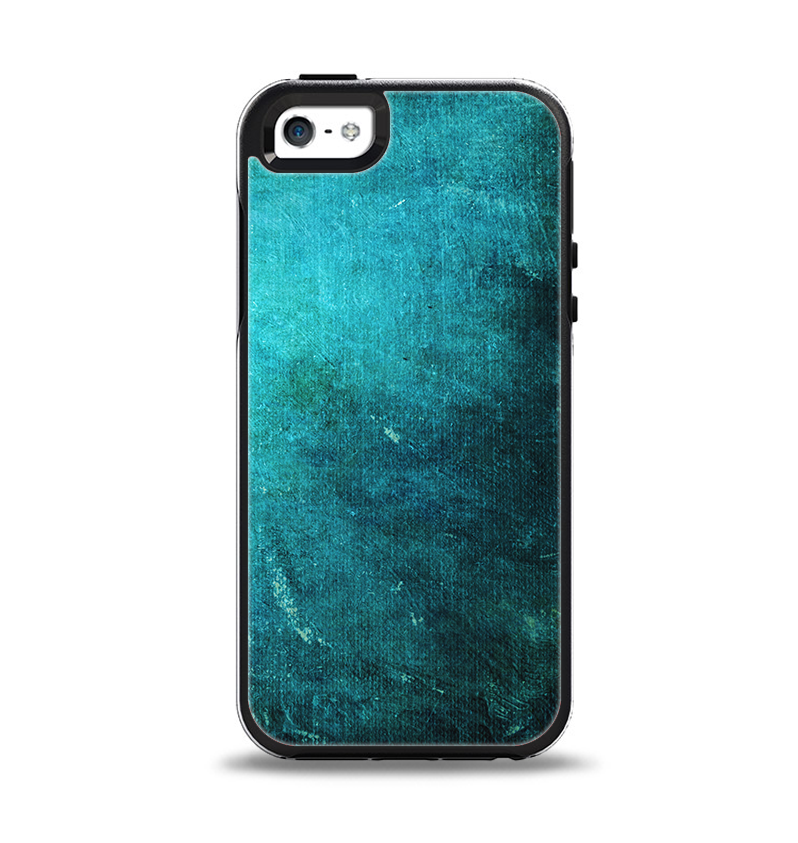 The Grunge Green Textured Surface Apple iPhone 5-5s Otterbox Symmetry Case Skin Set