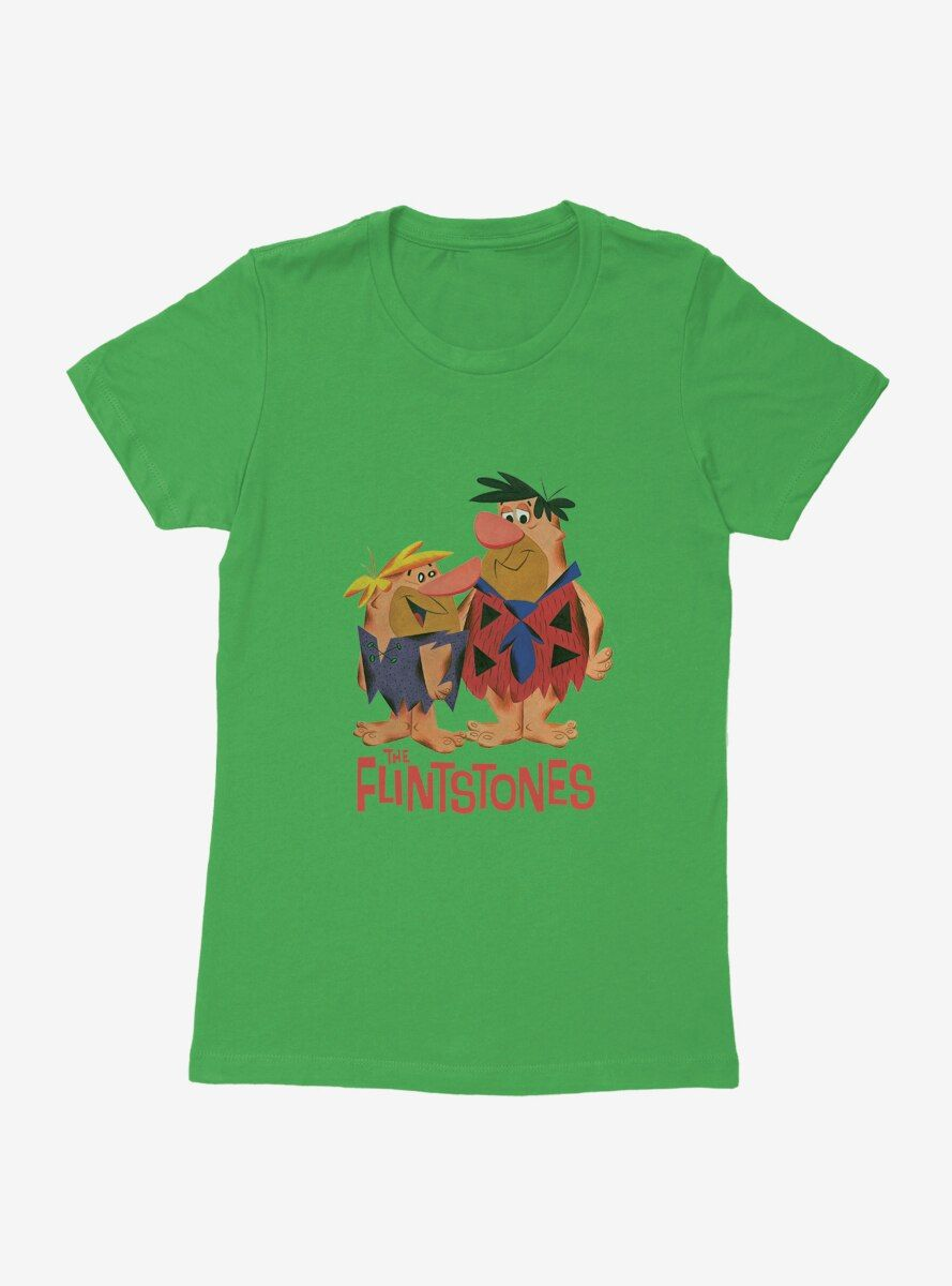 The Flintstones Barney And Fred Womens T-Shirt