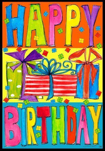 Happy Birthday Presents Large House Flag 28 X 40 By Toland Htt