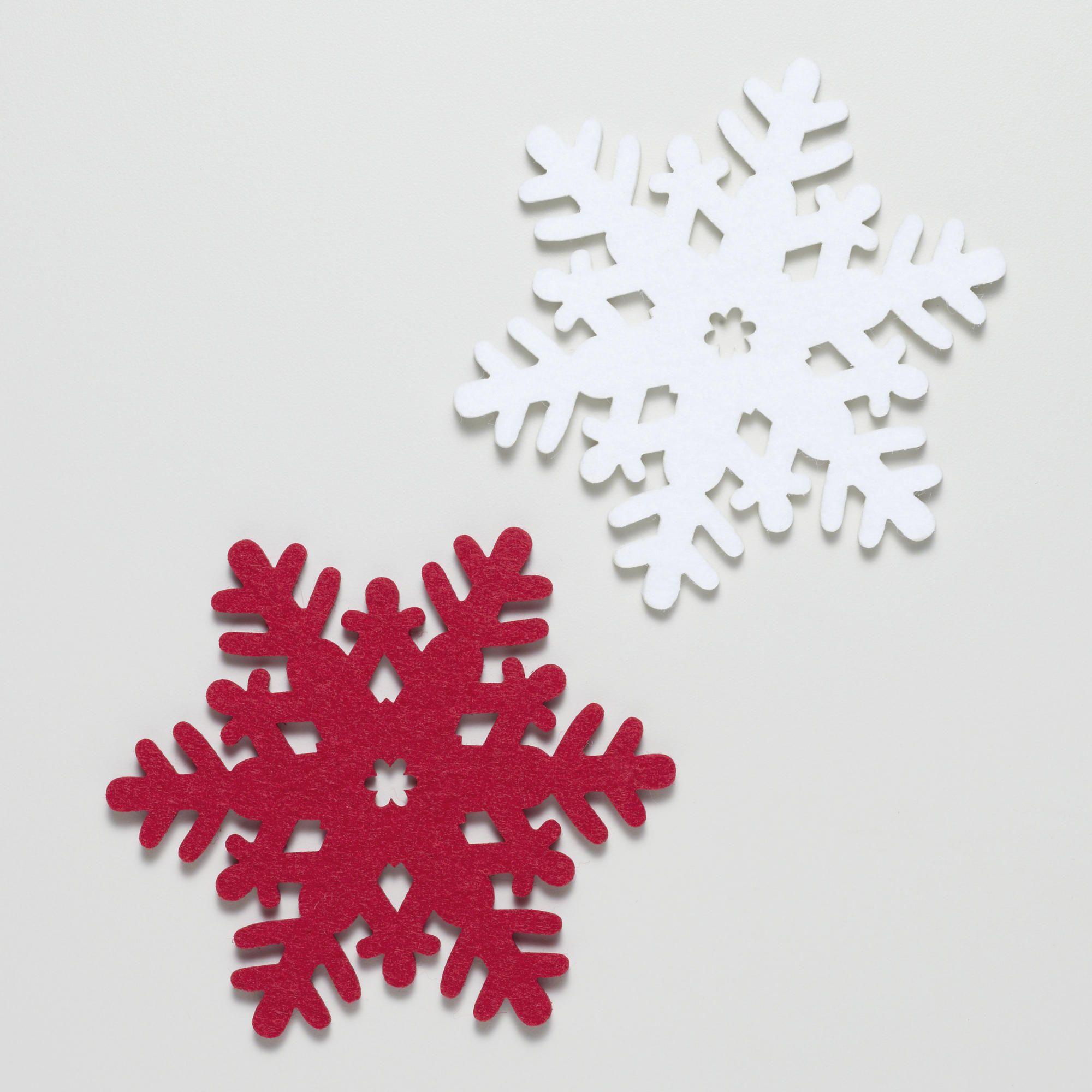 Felt Coaster Snowflakes Set Of 6 World Market Holiday Entertaining Christmas Felt Coasters Christmas Placemats