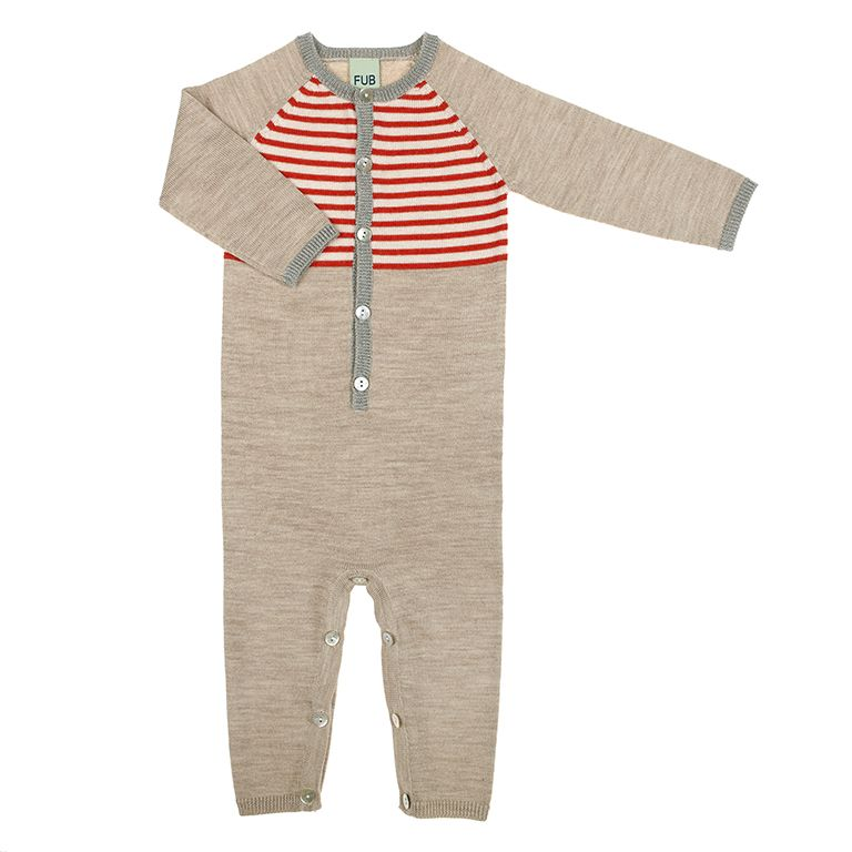 FUB | Baby bodysuit Red | Norway Designs