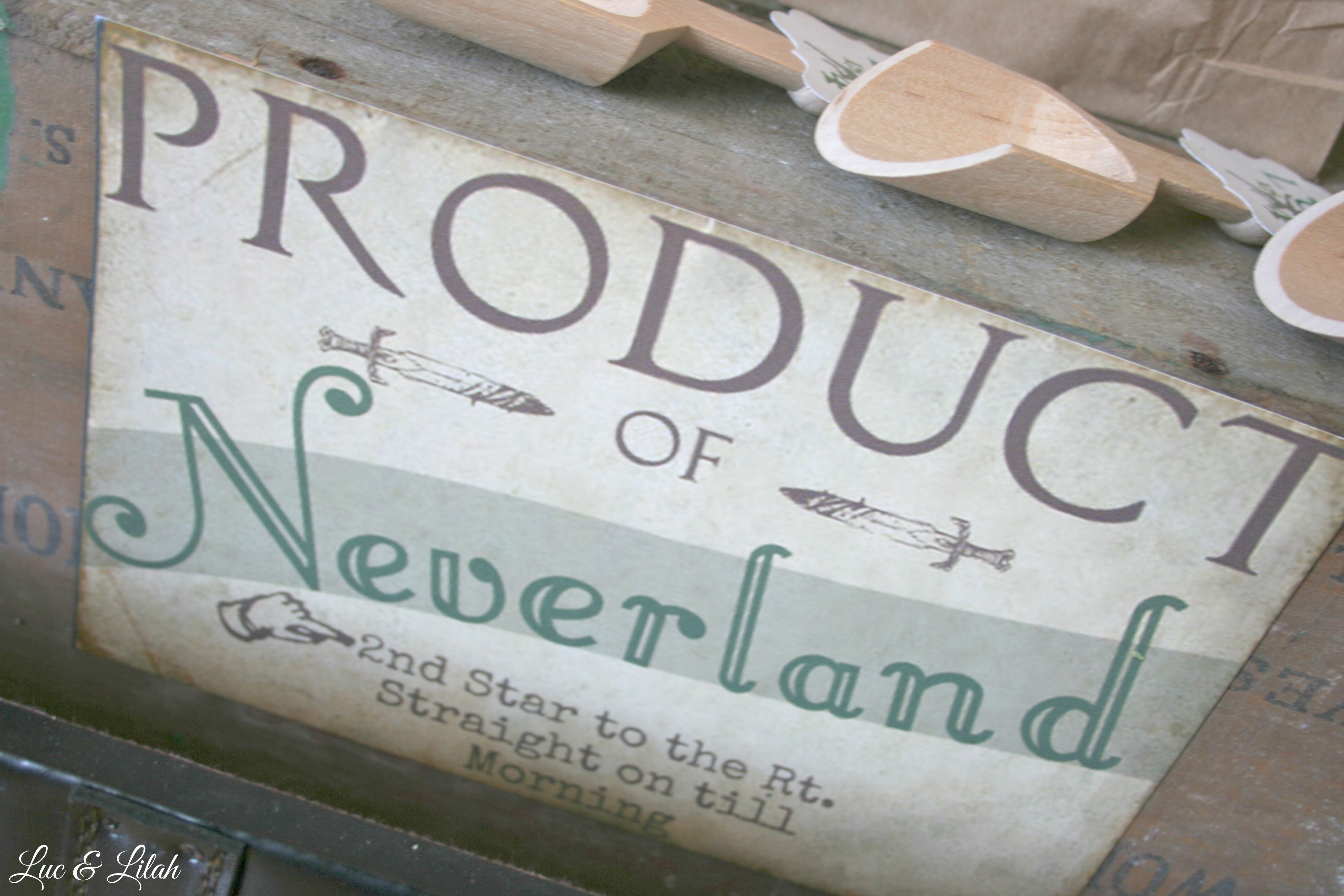 Vintage Neverland Signage for a Popcorn Bar at Peter Pan party by ...