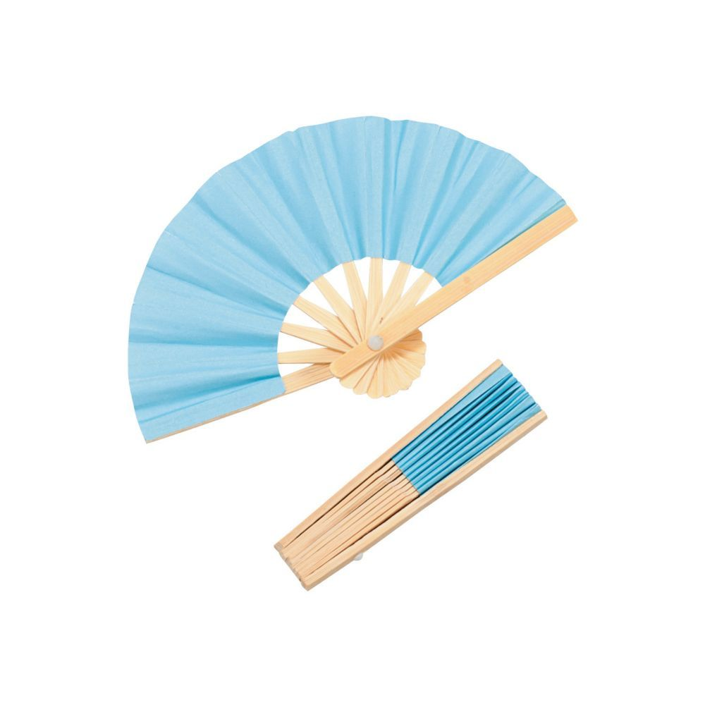 Mini Light Blue Bamboo Folding Hand Fans | Hand fans, Fans and Minis