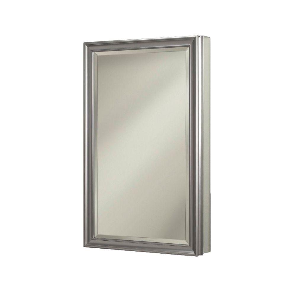 Studio V 15 In W X 35 In H X 5 In D Recessed Medicine Cabinet With 1 2 In Beveled E Beveled Edge Mirror Recessed Medicine Cabinet Bathroom Medicine Cabinet