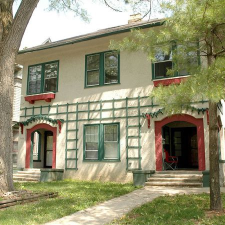 Historic Home With Bold Color Accents In Indianapolis Exterior Paint Colors Pinterest